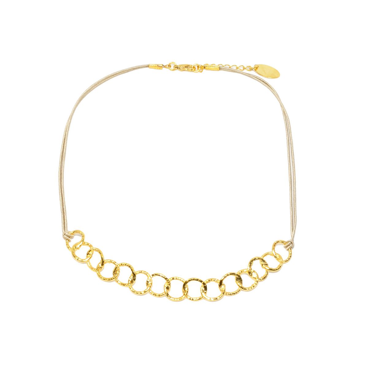 Necklace A4342-Gold- plated