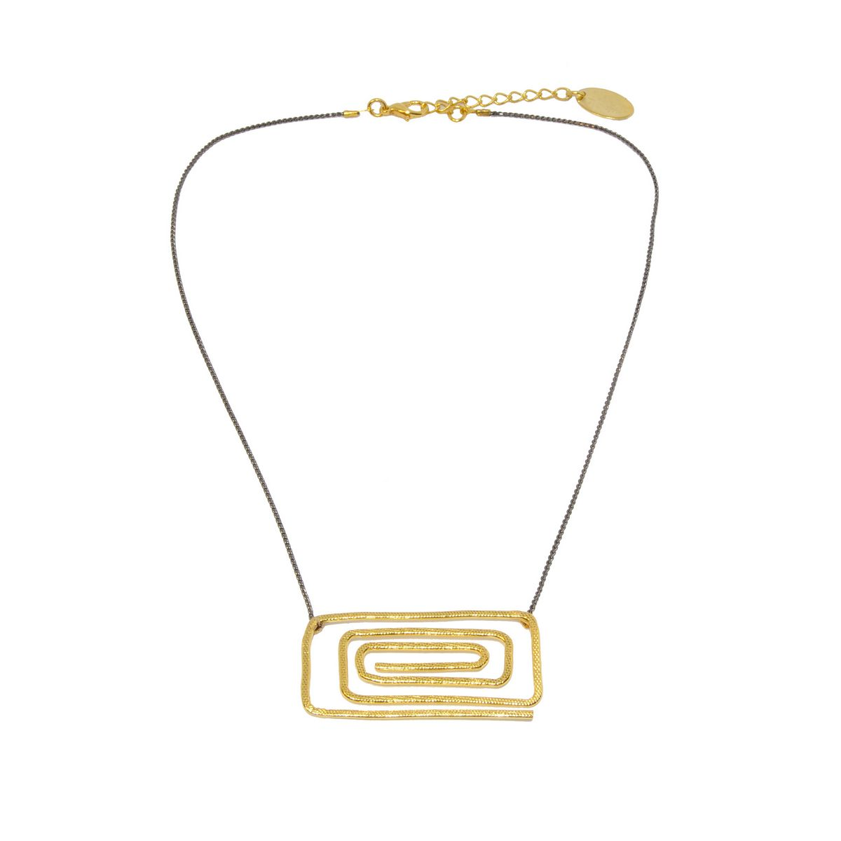 Necklace A4355-Gold- plated