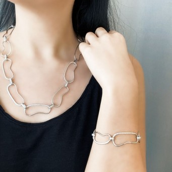 Necklace A4495-Gold- plated