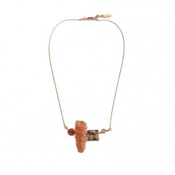 Necklace A4417-Salmon