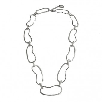 Necklace A4495-Silver- plated