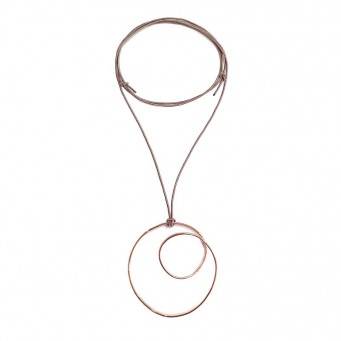 Necklace A4500-Rose Gold- plated