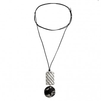 Necklace A4594-Silver- plated