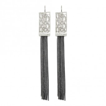 Earrings AF4372-Silver- plated