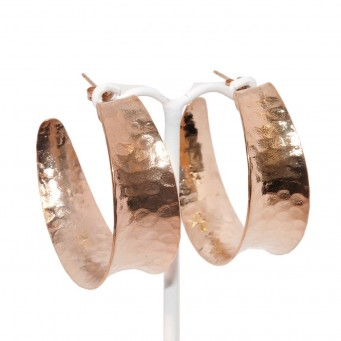 Earrings F9129-Rose Gold- plated