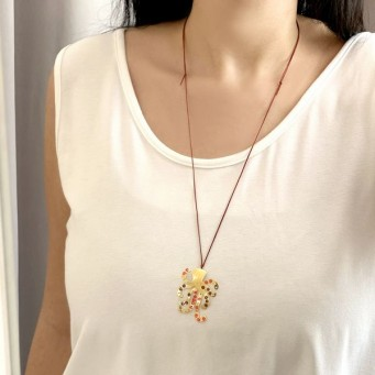 Necklace A4525-Gold- plated