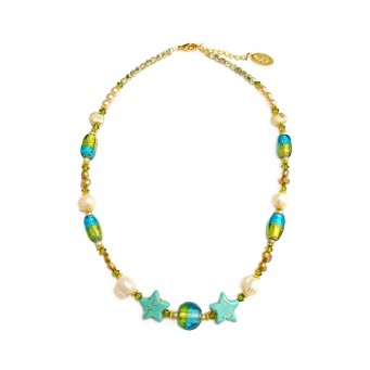 Necklace A4568-Τurquoise