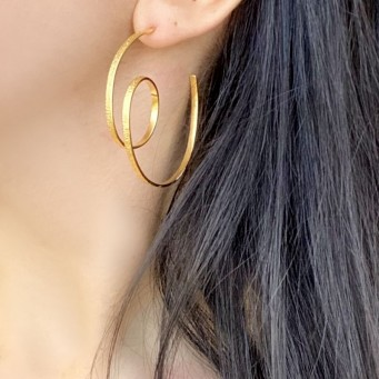 Earrings AF4500-Rose Gold- plated