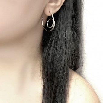 Earrings AF4501-Rose Gold- plated