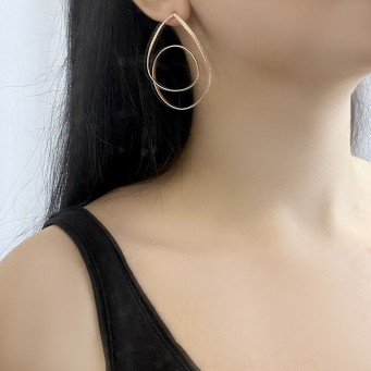 Earrings AF4502-Rose Gold- plated