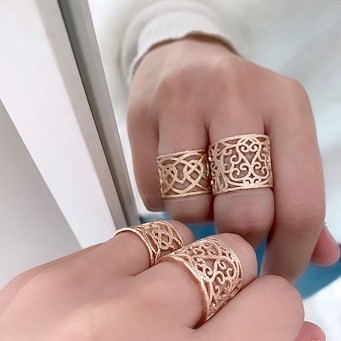 Rings D4372-Rose Gold- plated
