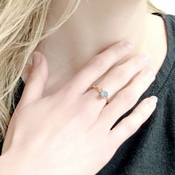 Rings D9192-Rose Gold- plated