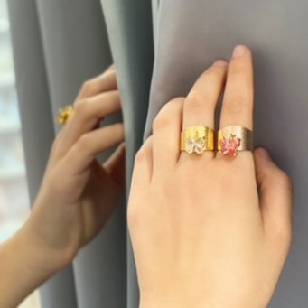 Rings D1002-Rose Gold- plated